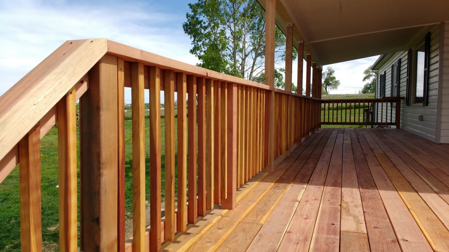 Farmhouse Redwood Deck
